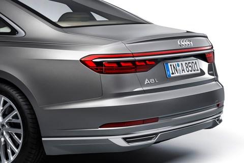 Audi A8 2017 rear detail