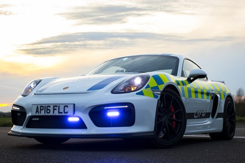 Porsche Cayman GT4 Norfolk police night