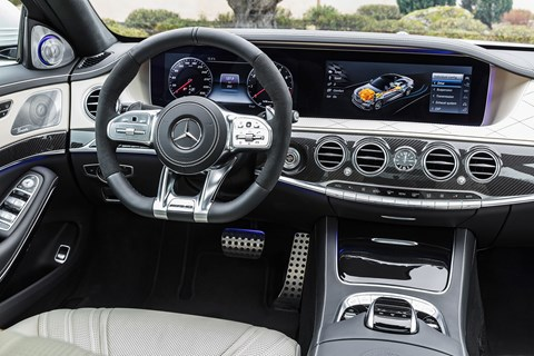 Inside the new 2017 Mercedes S-class cabin