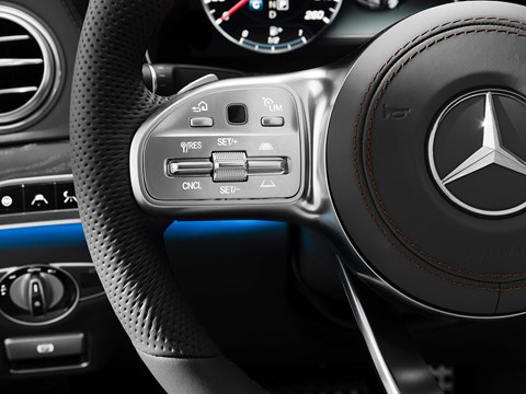 New Mercedes cruise control switches on steering wheel
