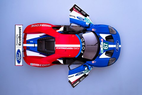 Ford GT WEC 2017 car overhead