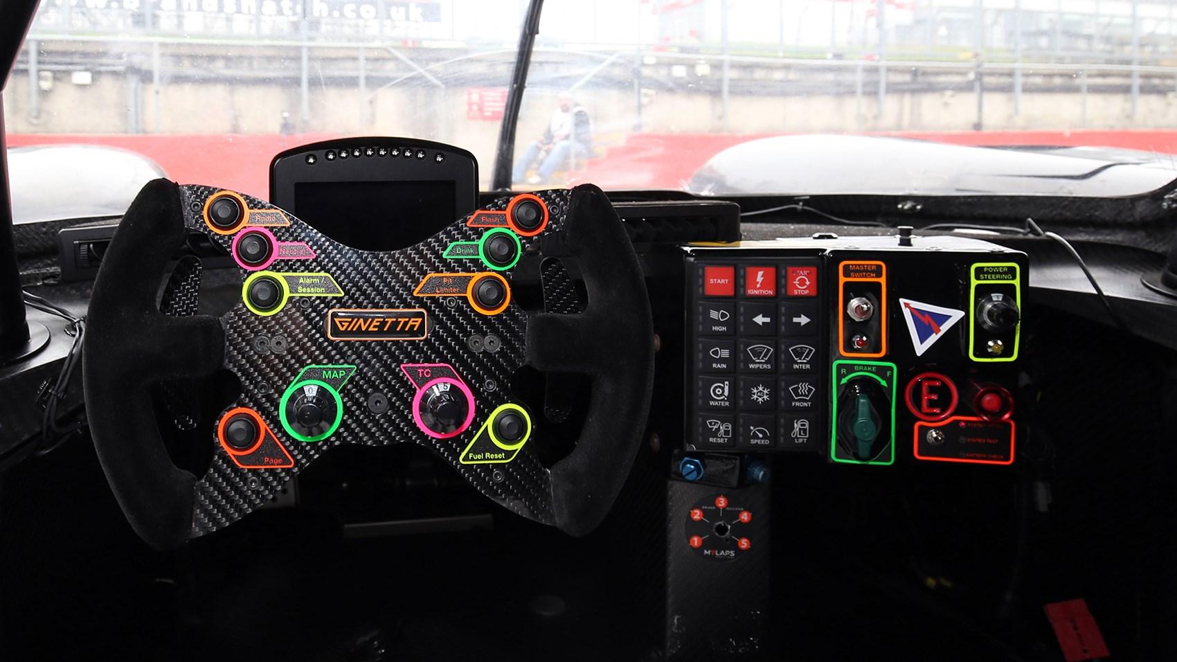 Ginetta G57-P2 steering wheel