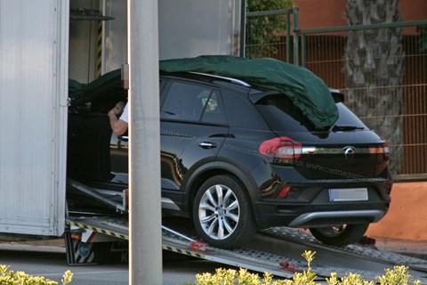 Volkswagen T-Roc prototype rear
