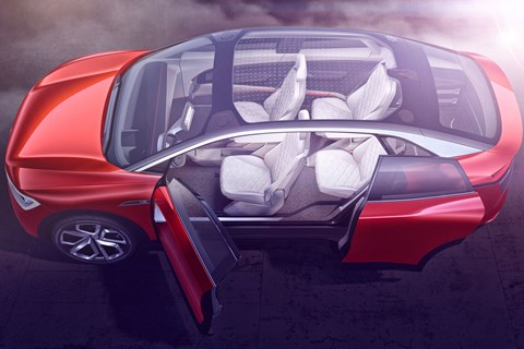 VW I.D. Crozz concept interior shot