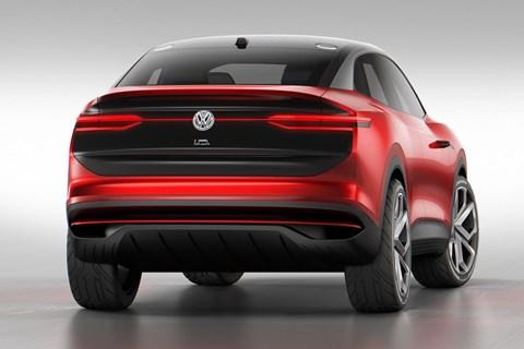 VW I.D. Crozz rear three quarter shot