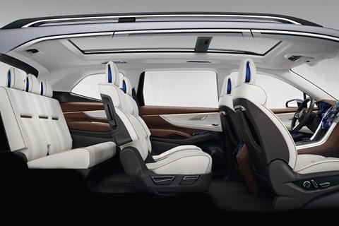 Subaru Ascent Concept rear seats