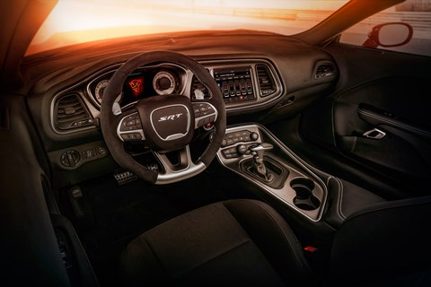 Inside Dodge Demon cabin