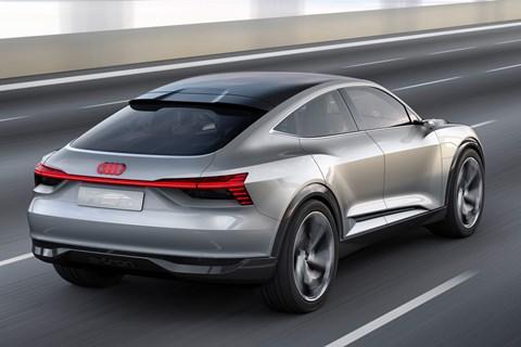 Audi e-tron Sportback rear quarter