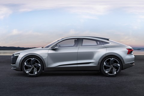Audi e-tron Sportback side