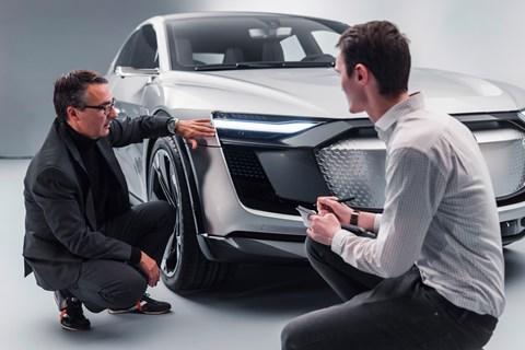 Audi e-tron Sportback light detail studio