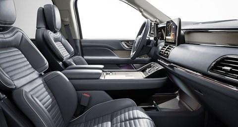 Inside cabin of new 2018 Lincoln Navigator