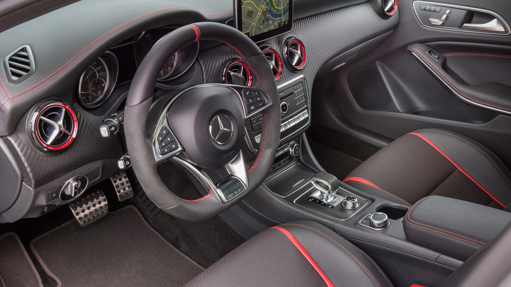 mercedes amg a45 2017 review by car magazine. Black Bedroom Furniture Sets. Home Design Ideas