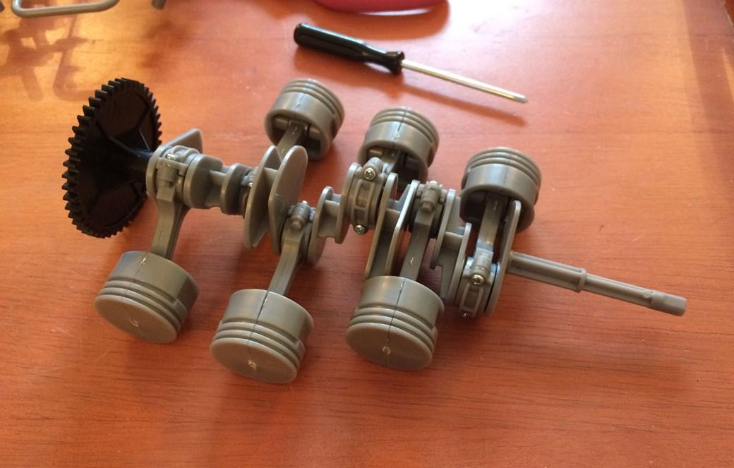 assembling the porsche flat-six pistons and crankshaft