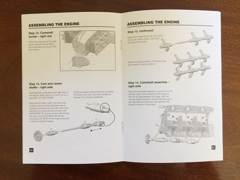 Instruction manual for Porsche flat-six scale model