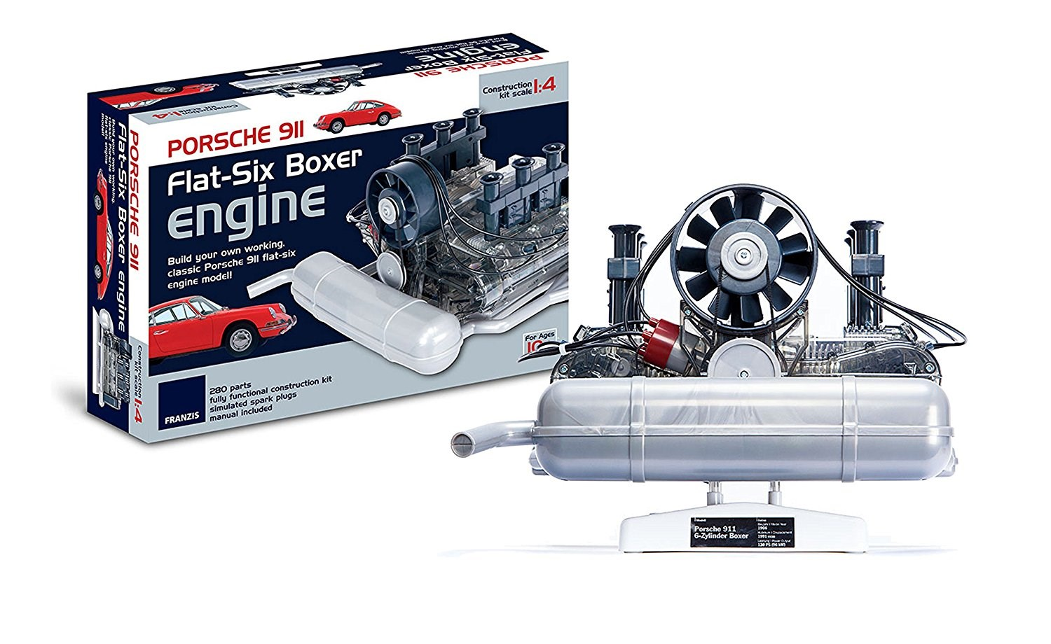 how a porsche 911 flat six boxer engine works toy scale model by rh carmagazine co uk