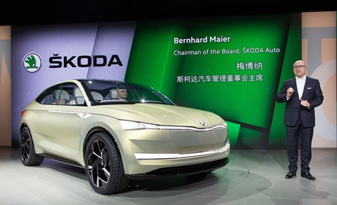 The Skoda Vision E: another world debut at Auto Shanghai 2017