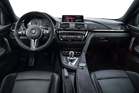 Inside the 2017 BMW M4 CS cabin