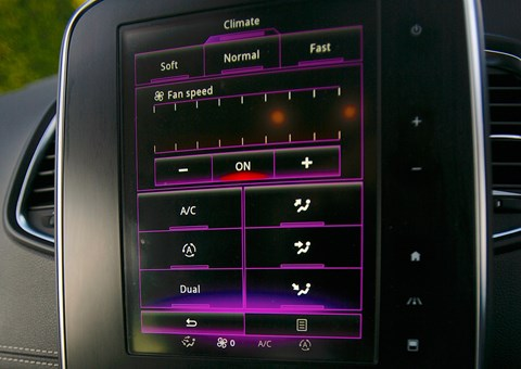 Renault Grand Scenic: the heating controls