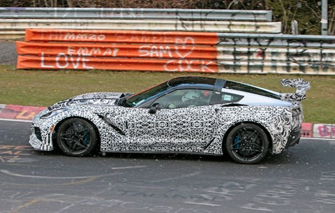 The new Corvette ZR1 caught testing at the Nordschleife
