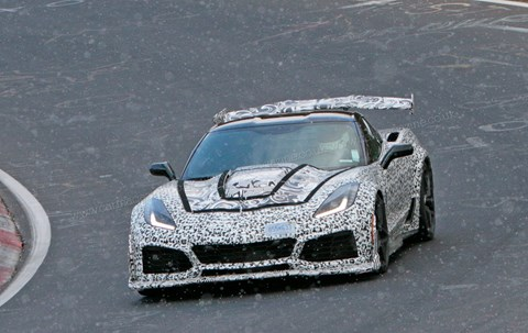 The new Corvette ZR1 spied at the Nurburgring