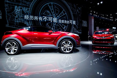 Toyota's Fengchao Way concept SUV (left) and the Fengchao Fun (right). Pic by Getty Images