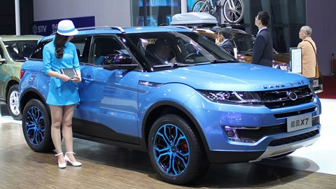 The Range Rover Evoque knock-off: Landwind X7 at earlier Shanghai show