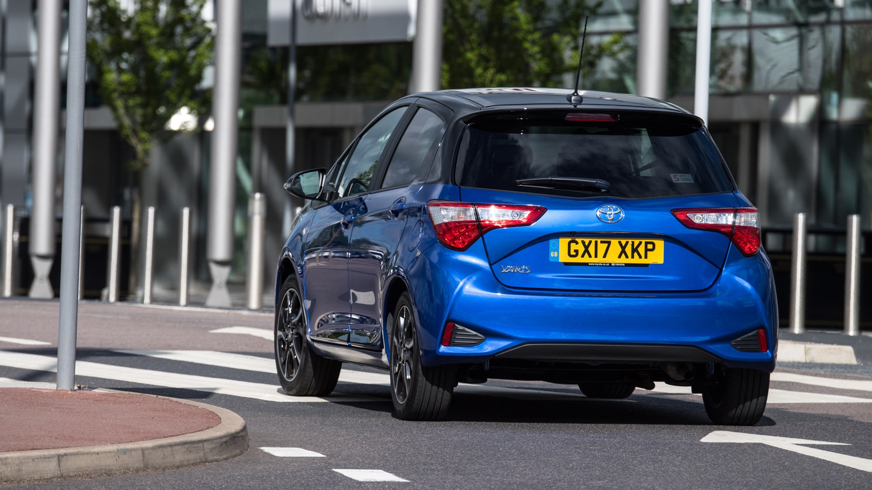 Toyota Yaris UK rear cornering