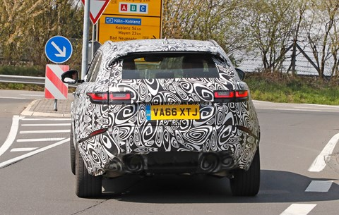 Rear end reveals likely diffuser and multi-exhaust for SVR