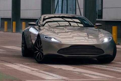 Aston Martin DB10 drifting