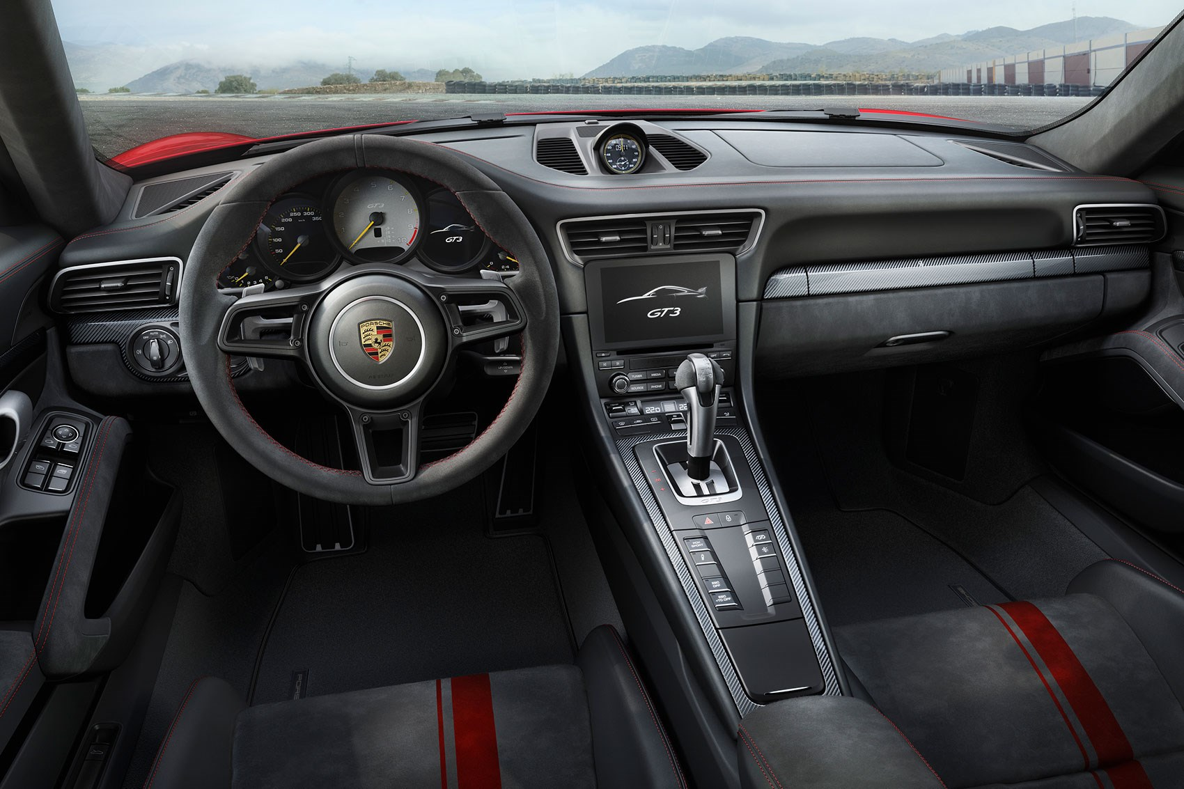 2017 Porsche 911 GT3 cabin with PDK