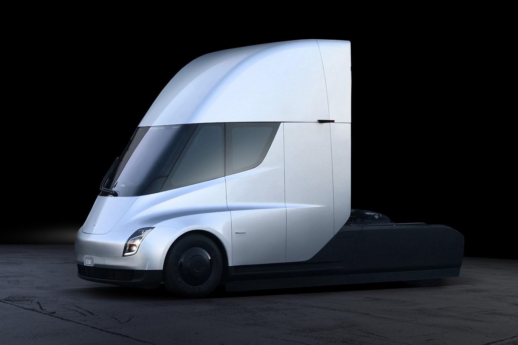 Lamborghini Semi Truck Tesla Watch The Electric Burn Rubber Car
