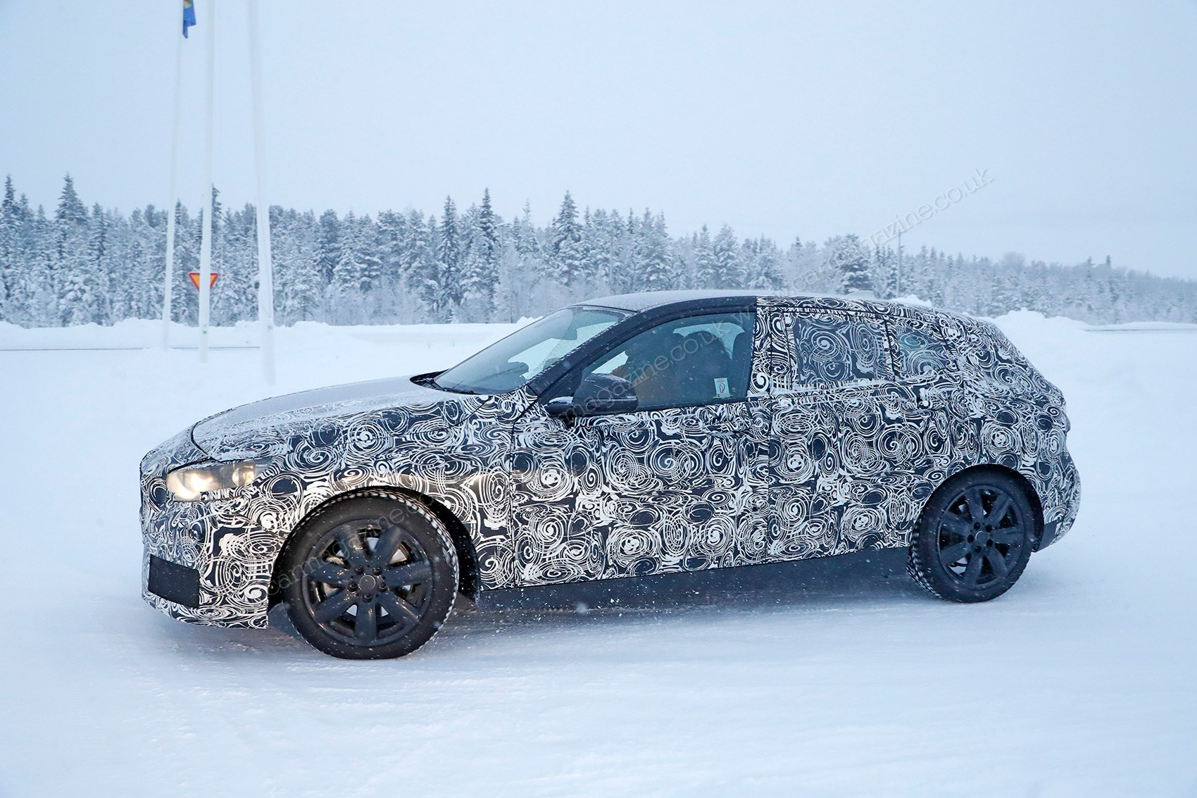 New front wheel drive BMW 1 series spied winter testing