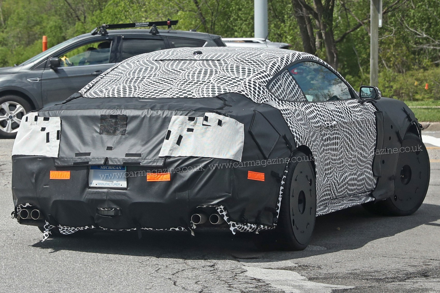 ford mustang gt500 2018 spy shots and first details