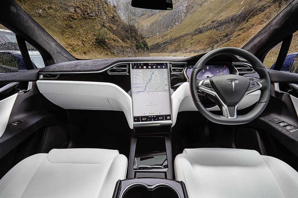 Inside Tesla Model X Cabin