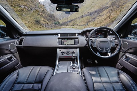 Range Rover Sport interior: showing its age compared with Audi Q7