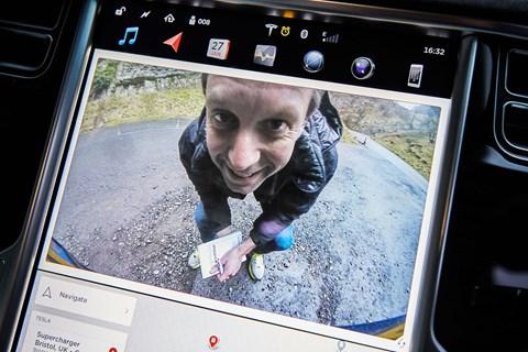 Tesla Model X digital screen