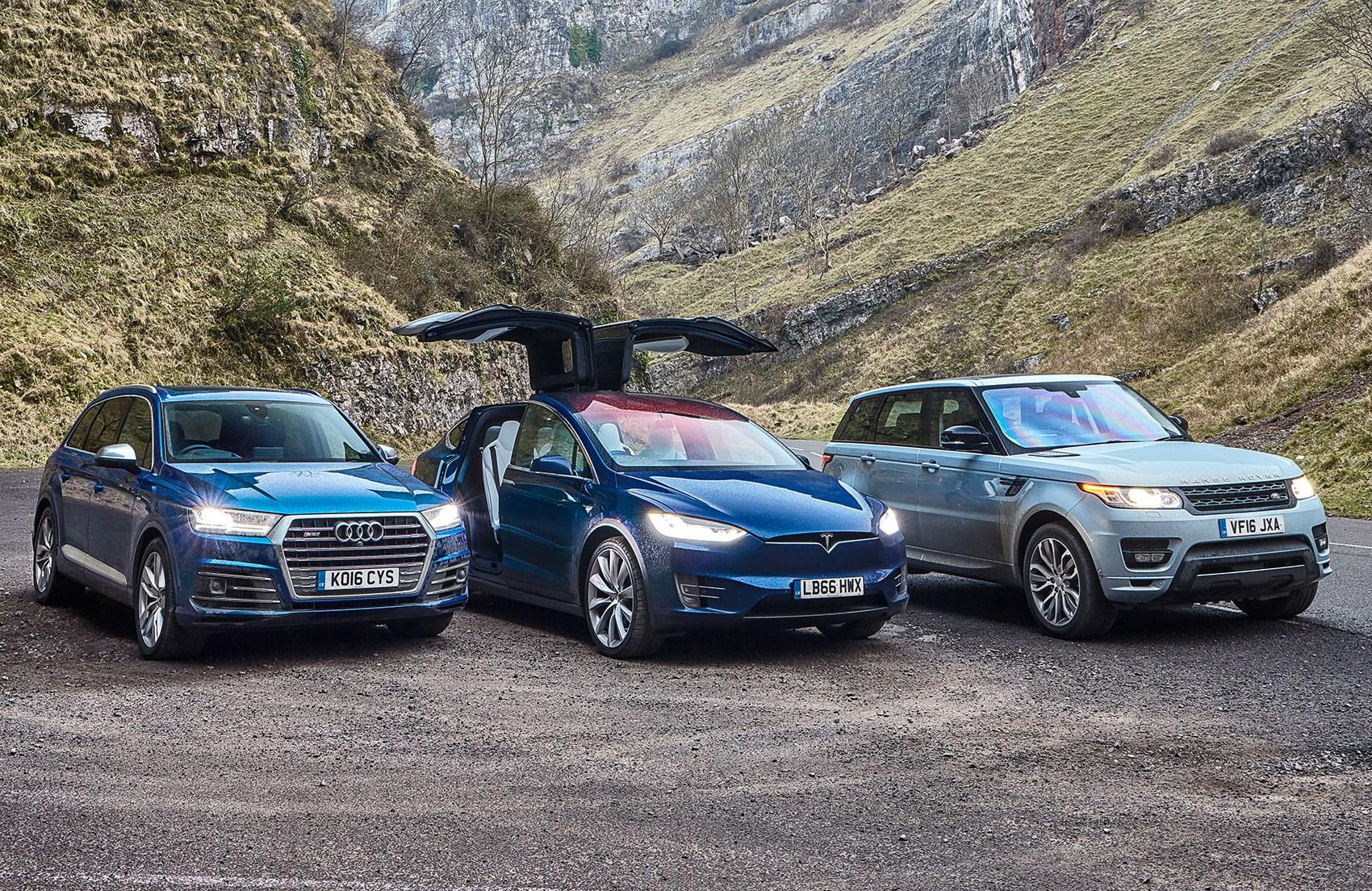 Tesla Model X Vs Audi Q7 Vs Range Rover Sport Triple Test