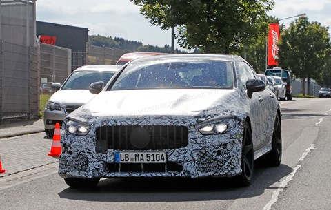 New spy photos of the AMG GT4 sports saloon