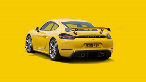 The new 718 Cayman GT4 render