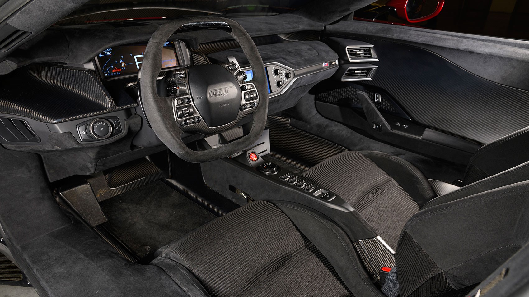 Ford Gt Cabin Inside The Blue Ovals Supercar