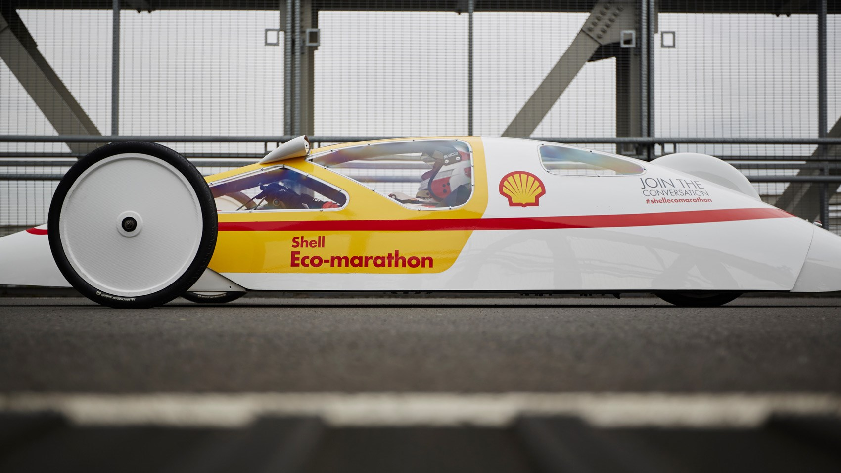 Shell Eco-Marathon prototype side