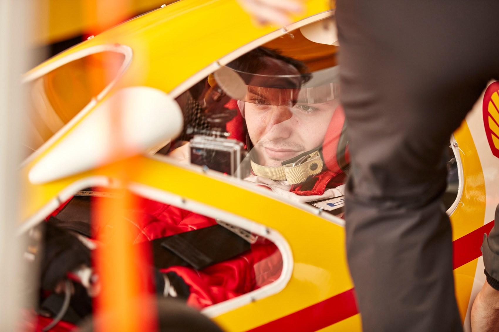 Shell Eco-Marathon prototype Jake cockpit