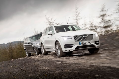 The Volvo XC90 and BMW X5