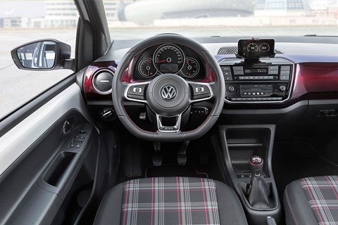 Inside the cabin of the new 2018 VW Up GTI