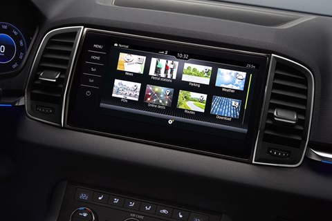 Skoda Karoq official infotainment