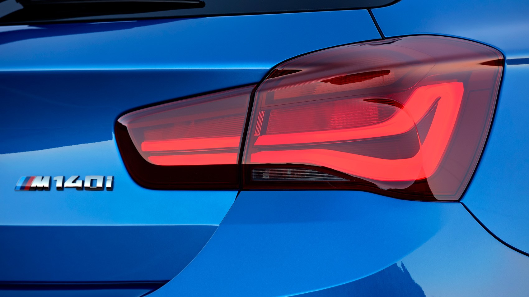 BMW M140i rear badge