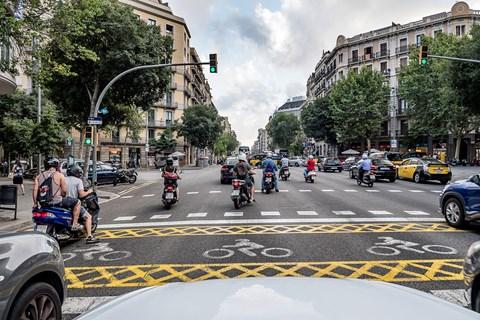 SEAT Ateca Barcelona traffic