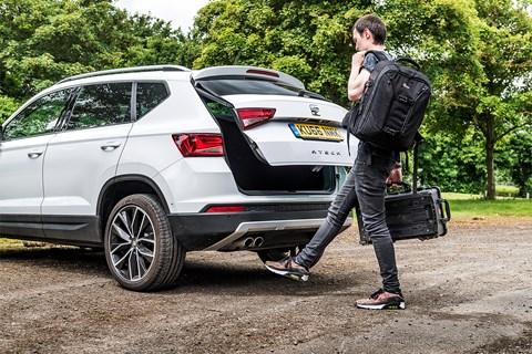 Seat Ateca tailgate 'virtual pedal'