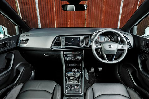 Inside the Seat Ateca cabin: ours is Xcellence trim