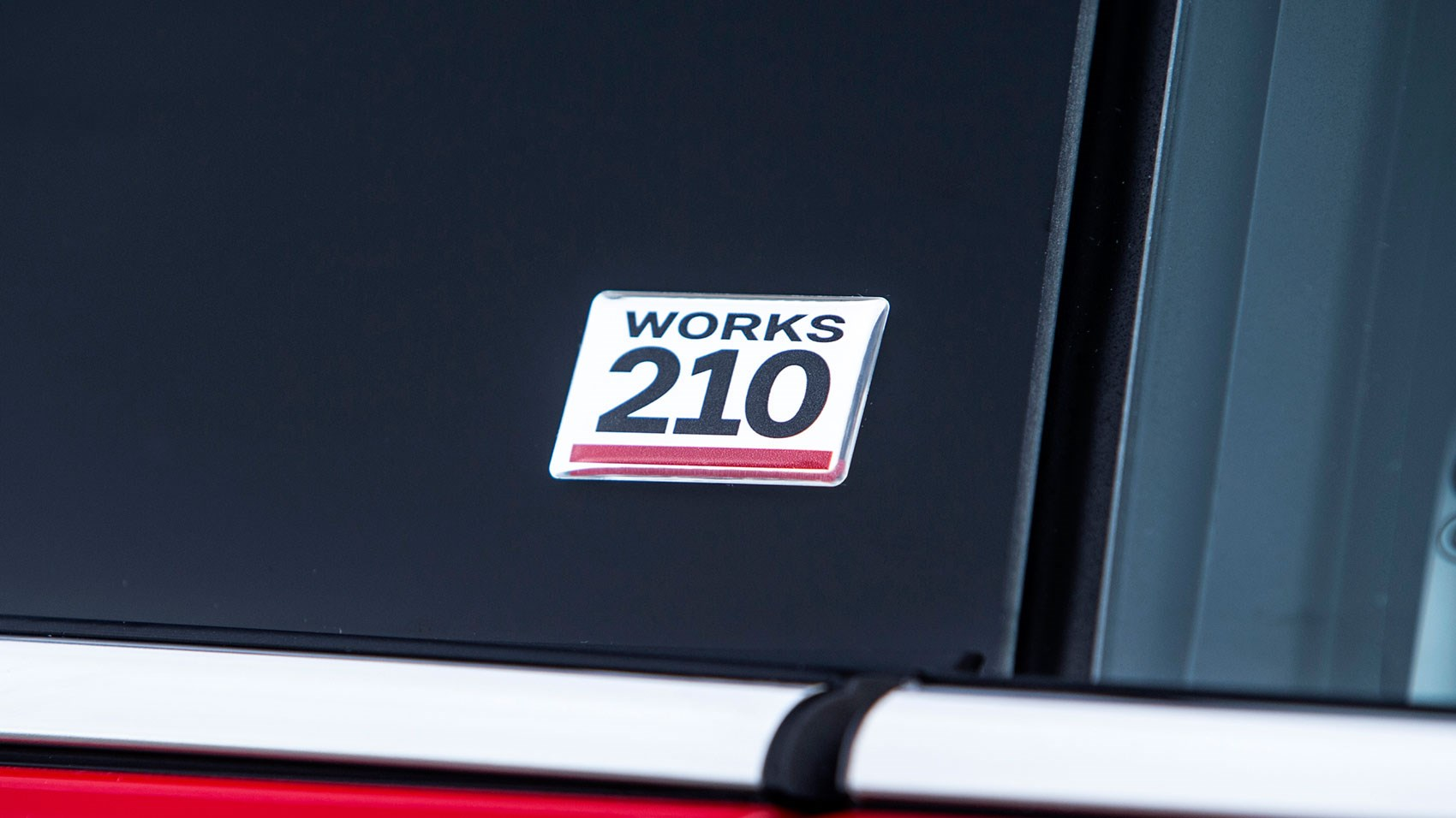Works 210 badge: a halfway house kinda Mini hot hatch